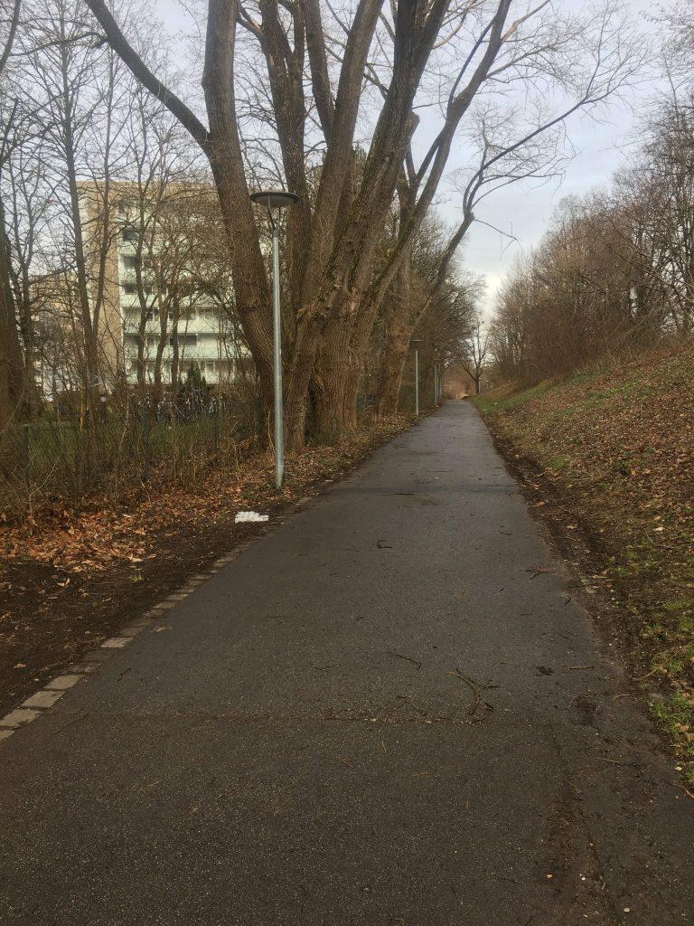 Ständlerstraße Weg zur Chiemgaustraße