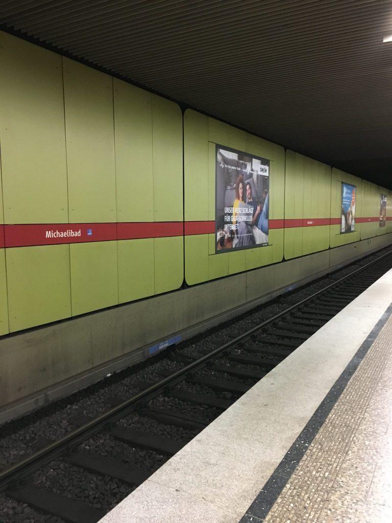 Heinrich-Wieland-Straße U-Bahn Michaelibad