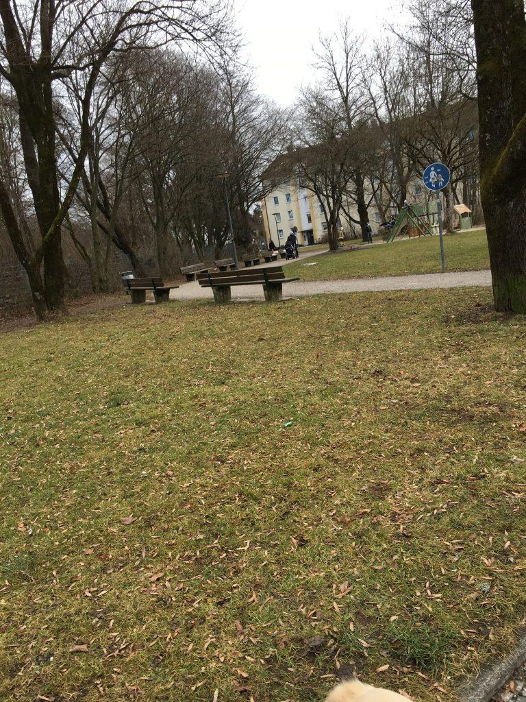 Markomannenstraße Fußweg zur Werdenfelsstreße