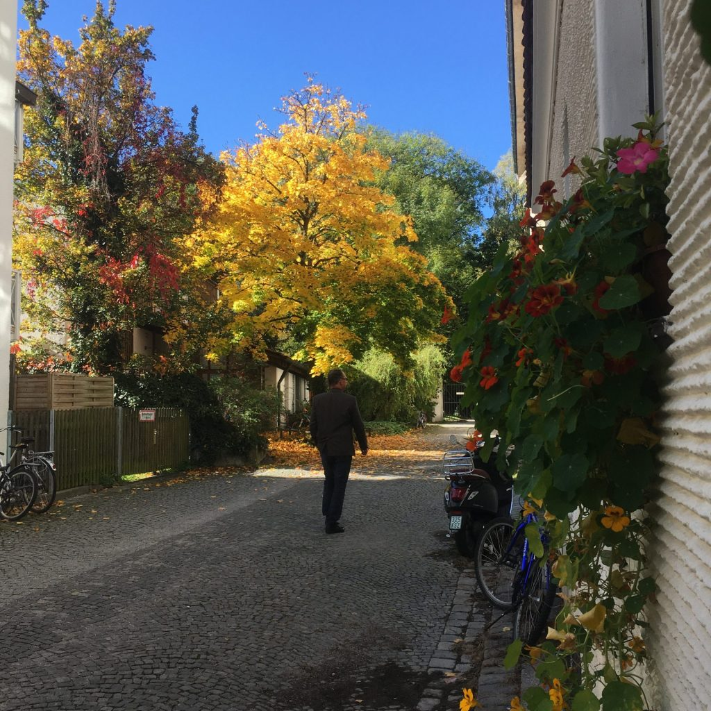 Pestalozzistraße -Weg zum alten Südfriedhof