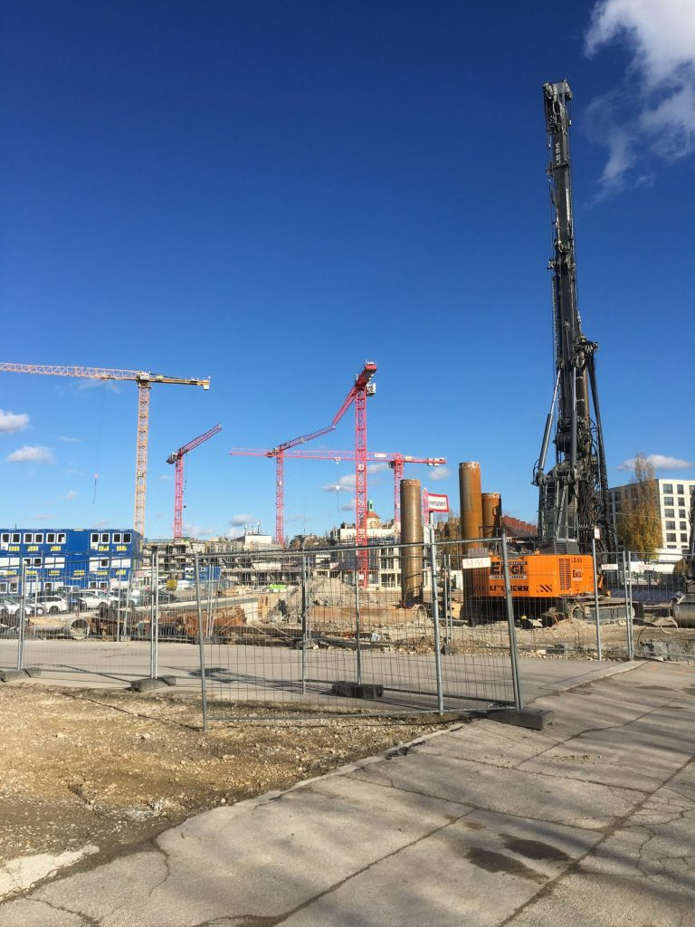 Hiendlmayerstraße Baustelle Getränkelager 2019